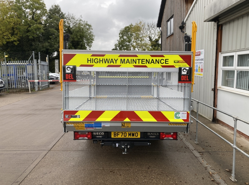 3.5 Tonne GVW Traffic Management Vehicle + Tail Lift