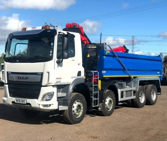 Construction waste removal with grab hire lorries thumbnail