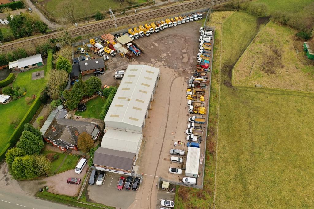 ND Brown Depot Aerial Shot